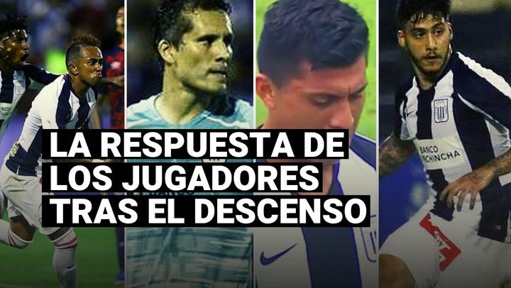 La respuesta de los jugadores de Alianza Lima tras descender a la Liga 2