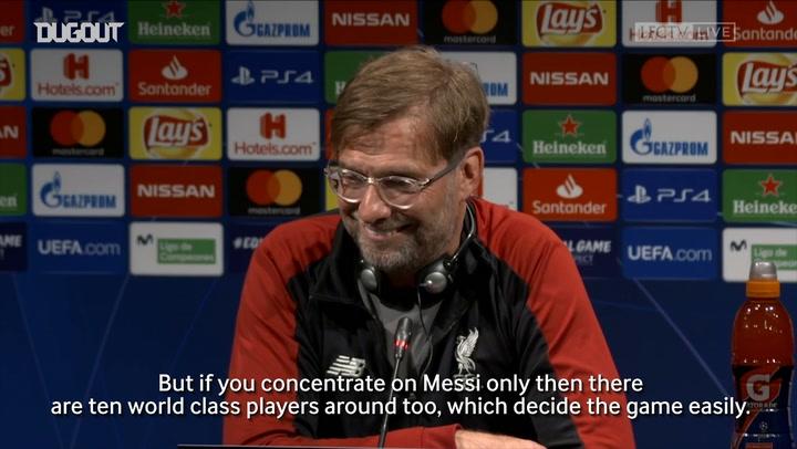 Klopp On Facing Messi At Camp Nou