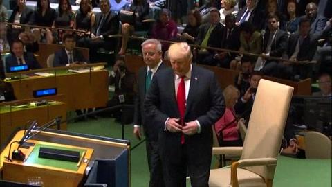 Trump deplora en la ONU tragedia humana en Venezuela