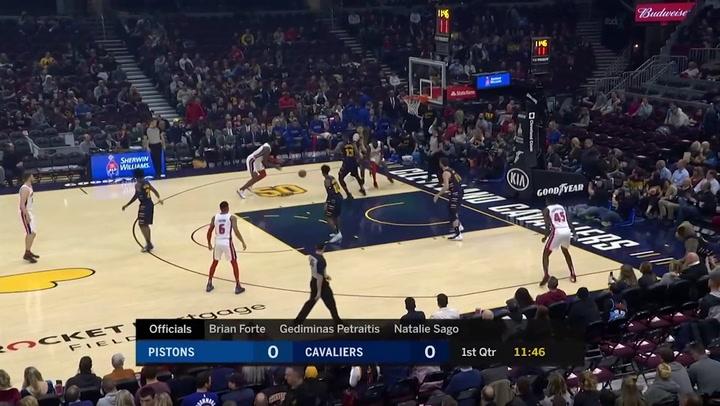 Andre Drummond (Pistons), el más destacado de la jornada de la NBA del 7 de enero 2020