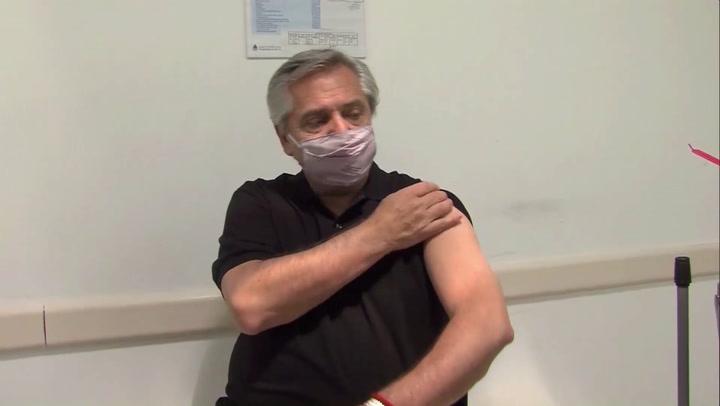 El presidente de Argentina se vacunó el pasado mes de enero