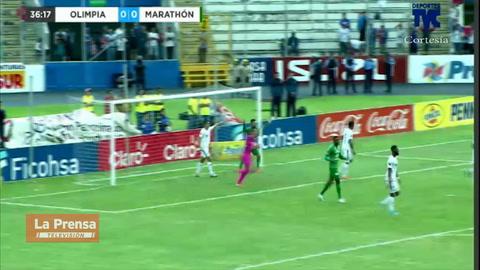 El gol anulado al Marathón contra Olimpia: ¿Qué pitó el árbitro?