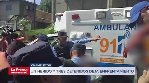 Un herido y tres detenidos deja enfrentamiento en Chamelecón