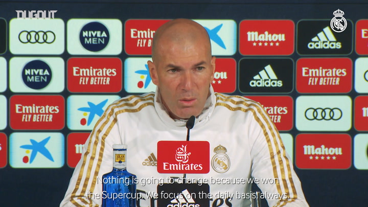 Zidane: 'We have a tough game and we have to stay focused'
