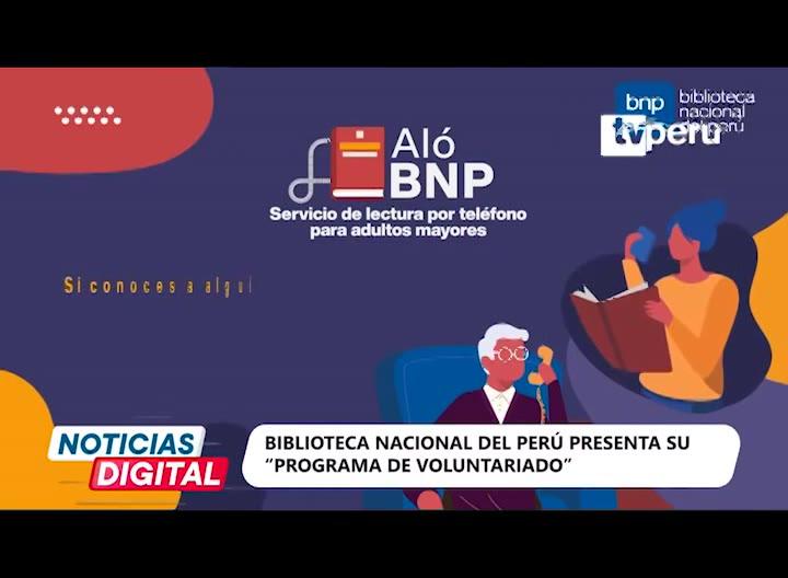 Biblioteca Nacional del Perú presenta convocatoria para programa de voluntariado