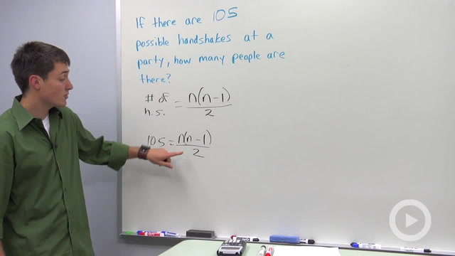 Number of Handshakes at a Party - Problem 2