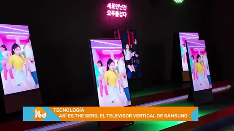 Así es The Sero, el televisor vertical de Samsung para millennials