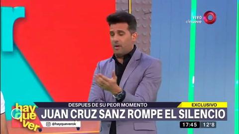 Juan Cruz Sanz reapareció y  acusó a una mujer y a un pseudo periodista por difundir sus videos
