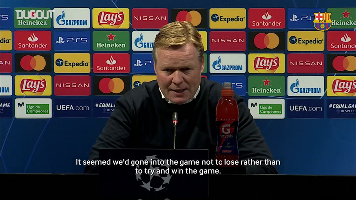 Ronald Koeman: 'We have to  start the games strongly'