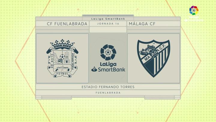 LaLiga Smartbank (Jornada 16): Fuenlabrada 0-2 Málaga