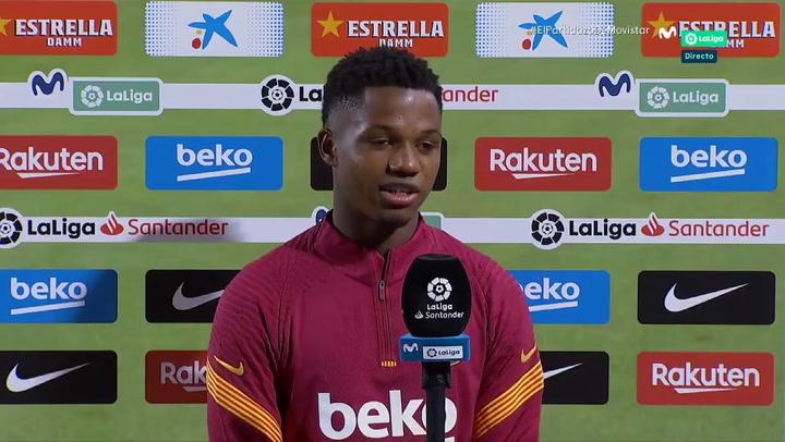 Ansu Fati: ''Jugar con Messi es un sueño desde niño. Siempre me ayuda y me da consejos''