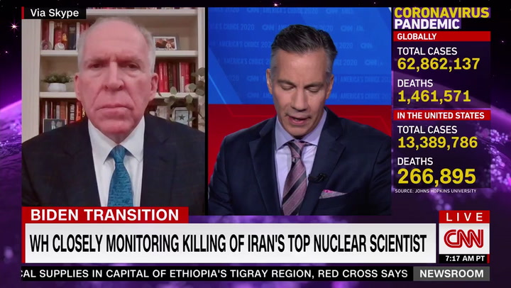 Brennan: Killing of Iranian Nuclear Scientist Violates 'Standards of International Behavior'