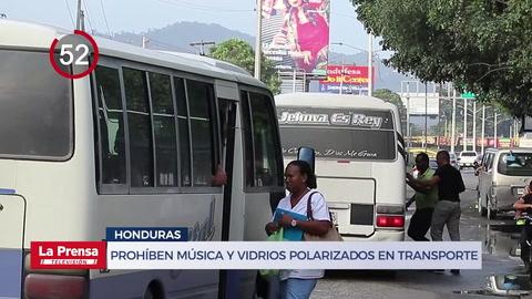Prohíben música y vidrios polarizados en transporte público de Honduras