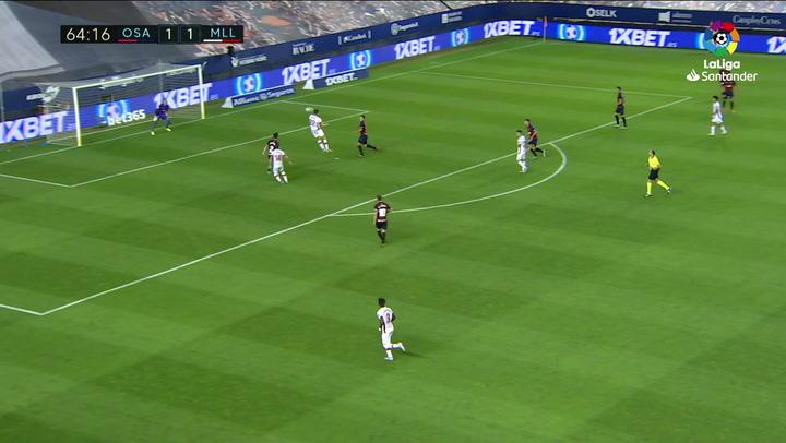 Gol de Budimir (1-2) en el Osasuna 2-2 Mallorca