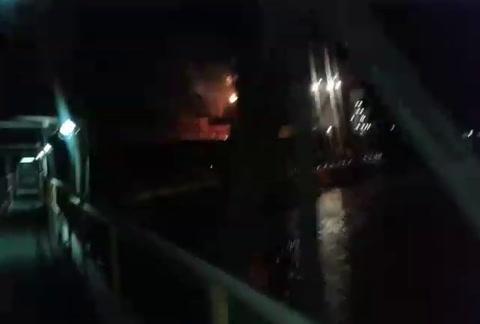 Gran susto y tensión en Cargill por un pavoroso incendio de la zona de embarque