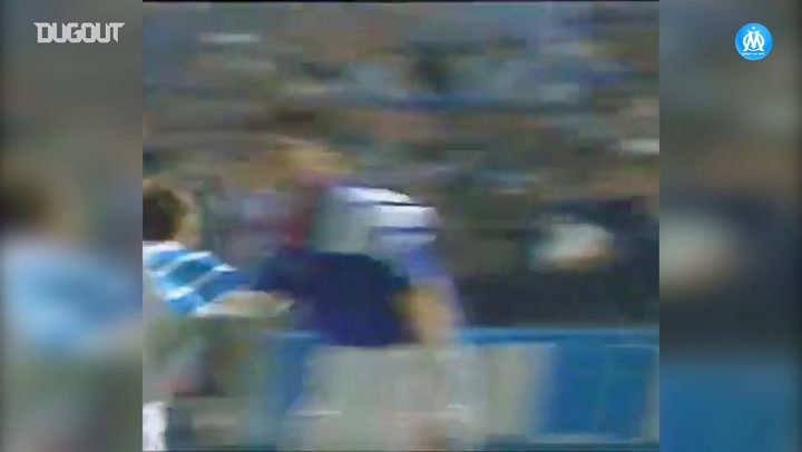 Franck Sauzée's fantastic goal vs Glasgow Rangers
