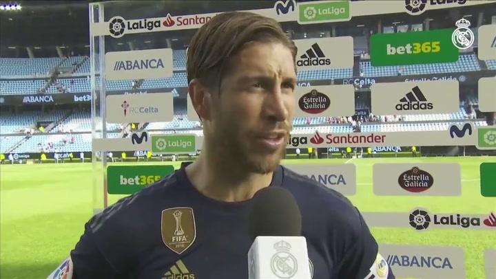 Sergio Ramos habla tras el partido en Balaídos