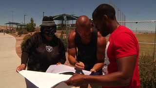 Raiders get into action at local park – Video