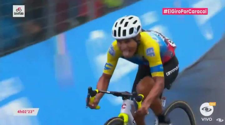 Increíble victoria del ecuatoriano Caicedo en el Etna, en la debacle de Yates y Thomas