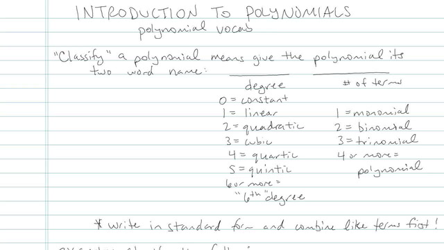 Introduction to Polynomials - Problem 5