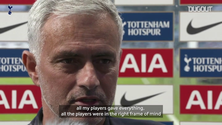 Mourinho: Spurs have no time to cry about Everton performance