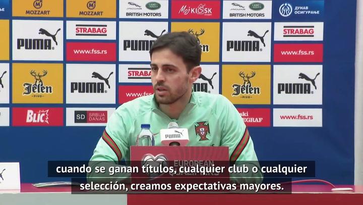 """Bernardo Silva: """"Es normal que después de ganar títulos se generen expectativas"""""""