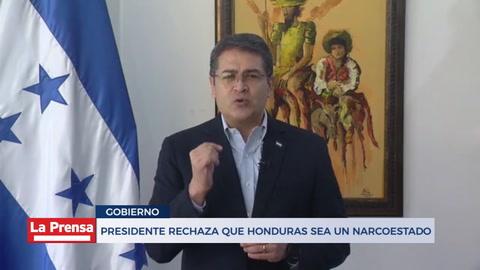 Presidente rechaza que Honduras sea un narcoestado