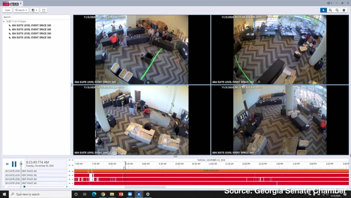 Surveillance Footage Appears to Show GA Vote Counters Pulling Suitcases of Ballots from Under Table After Observers, Media Asked to Leave