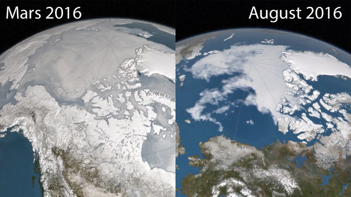 Se isen smelte i Arktis