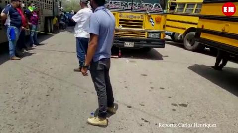 Bloquean tramo carretero en Telica, Olancho