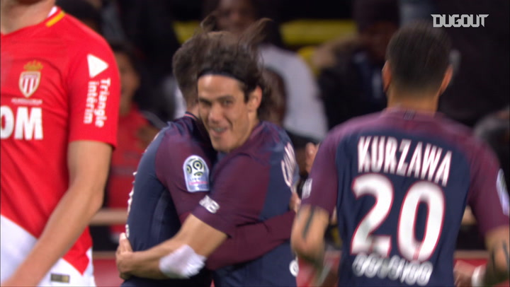 Cavani Best 5 Goals vs Monaco