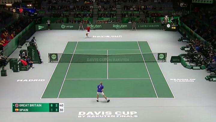 Edmund dejó grandes puntos en el partido de la Davis ante Feli López