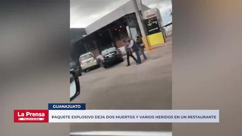 Paquete explosivo deja dos muertos y varios heridos en un restaurante