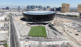 Natural turf added to Allegiant Stadium field tray