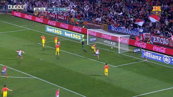 El doblete de Leo Messi ante el Granada