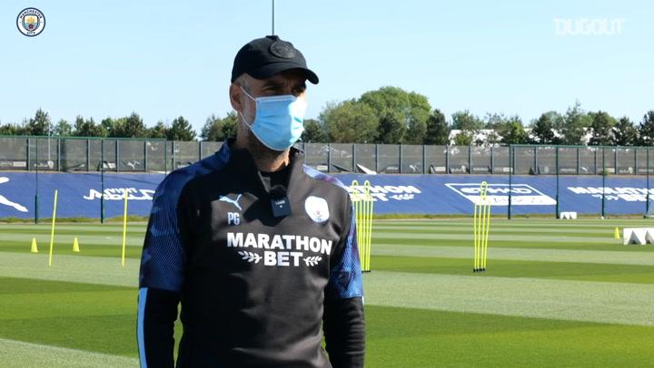 Pep Guardiola on Man City's training return