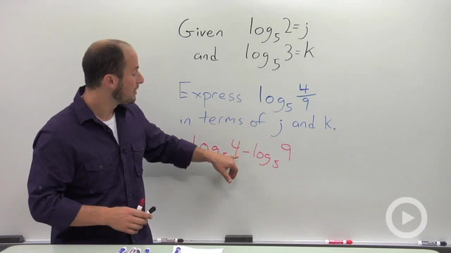 Evaluating a Logarithmic Expression in terms of Known Quantities - Problem 2