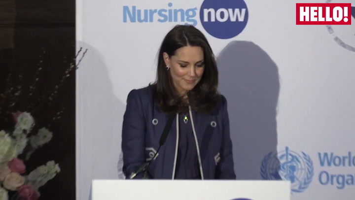 Duchess Of Cambridge Gives A Speech At The Launch of Nursing Now