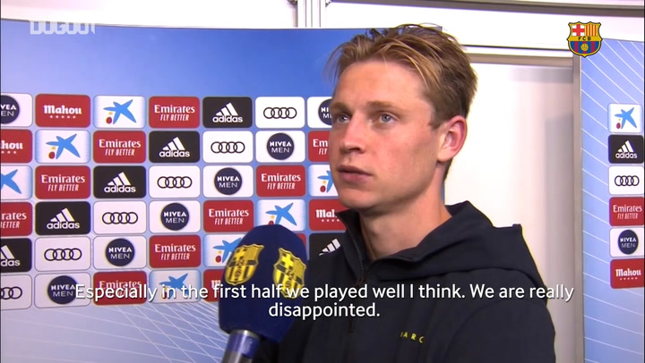 Frenkie de Jong: 'We could have won the game'