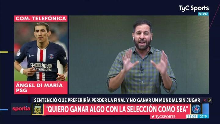 """Di María: """"Si juego con Messi en el PSG ya podré retirarme tranquilo"""""""