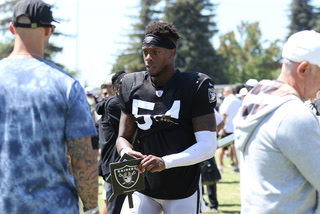 Brandon Marshall Returns to Raiders, Both Rodney Hudson and Andre James Dealing With Injury – VIDEO