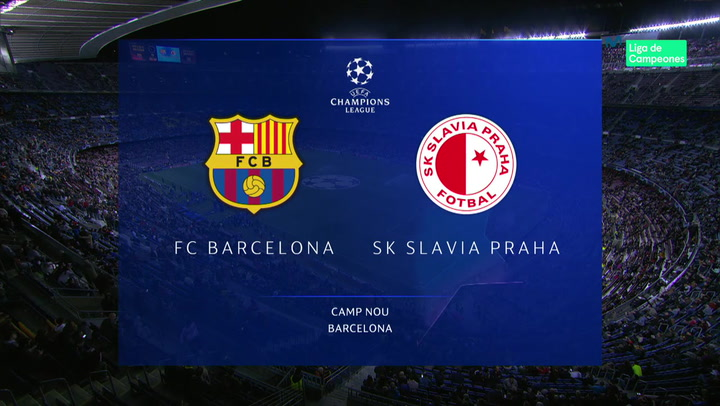 Champions League: Resumen y Goles del Barça - Slavia Praga