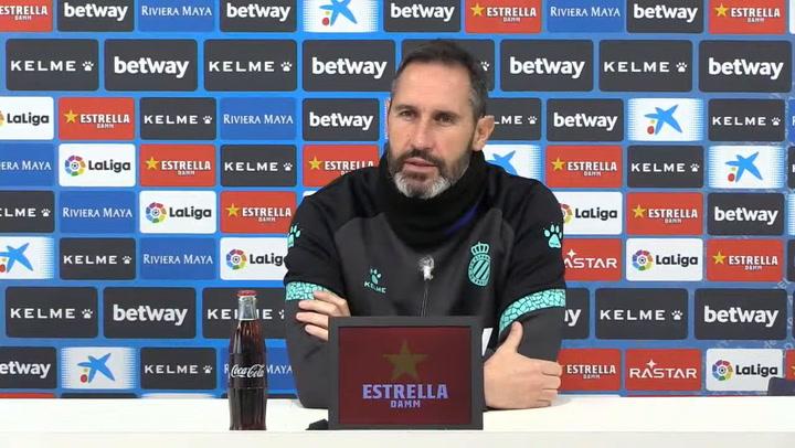 Rueda de prensa de Vicente Moreno en la previa del partido de Copa en Burgos