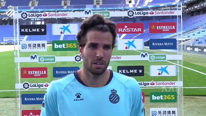 Leandro Cabrera habló tras el partido ante el Levante