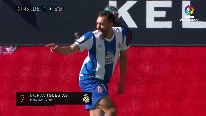 LaLiga: Espanyol - Atlético. Gol de Borja Iglesias en el minuto 51 (2-0)