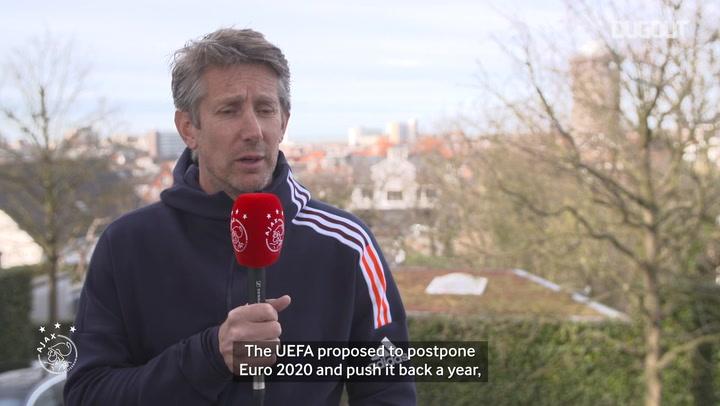 Edwin van der Sar provides an update on the postponement of Euro 2020