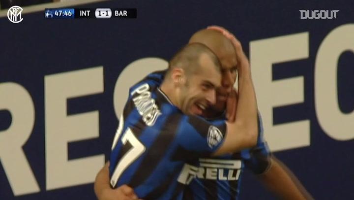 Inter dominate Barcelona in semi-final first leg