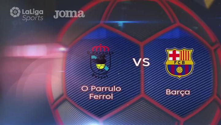 4-6: Un solvente Barça vence a O Parrulo y sigue líder