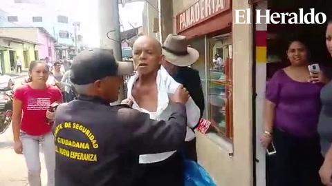 Danlí: maltratan a un adulto mayor por supuesto robo