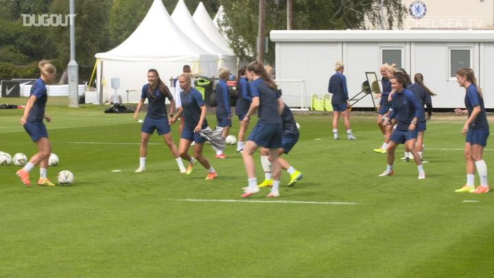 Chelsea Women back in training after winning FA WSL
